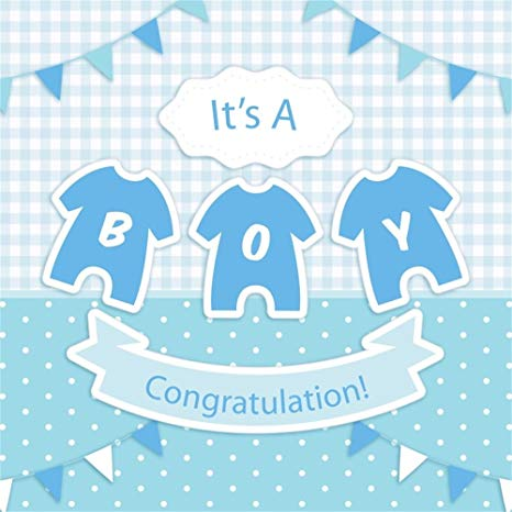 Baby boy wallpaper clipart svg black and white download LFEEY 8x8ft Baby Boy Baby Shower Photography Backdrop Blue Check Clothes  Mother-to-be Little Prince Gender Reveal Party Background Video Drapes ... svg black and white download