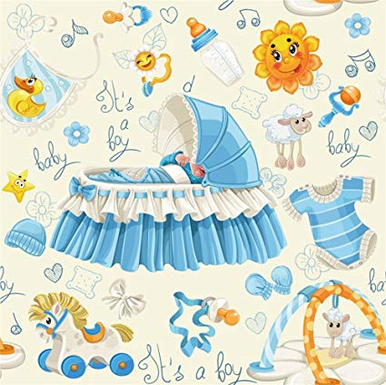 Baby boy wallpaper clipart jpg library stock LFEEY 6x6ft Baby Boy Cute Baby Shower Backdrop Vinyl Baby Crib Toys Nursing  Bottle Little Prince Gender Reveal Party Background Drop Video Drapes ... jpg library stock