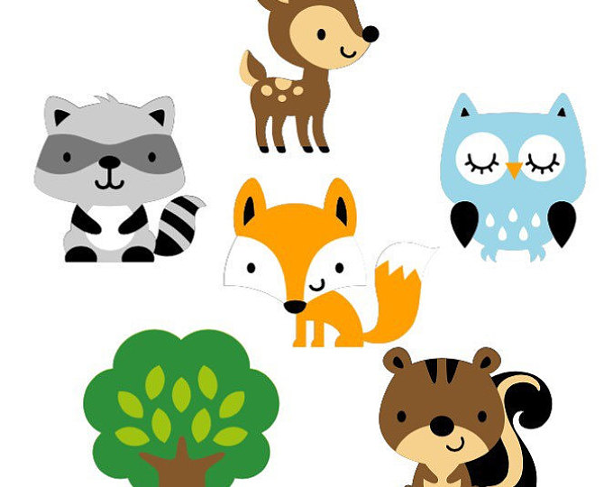 Library Of Woodland Animal In Diaper Graphic Freeuse Stock