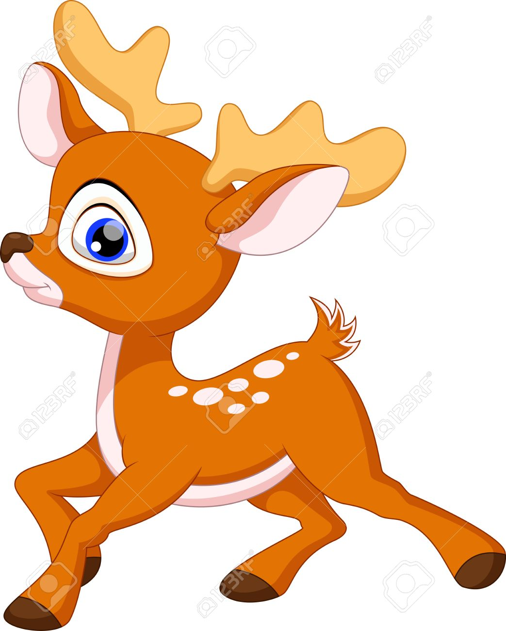 Baby buck clipart clip art transparent stock Baby Deer Clipart - Making-The-Web.com clip art transparent stock