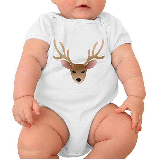 Baby buck head clipart vector freeuse download Amazon.com: Zhangyuyu Buck Clipart Moose Head Short Sleeve Baby ... vector freeuse download