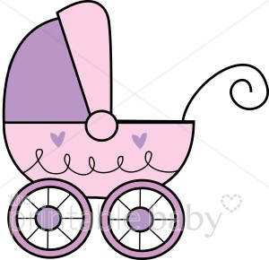 Baby buggy clipart graphic royalty free stock Purple baby Buggy Clipart | Stroller Clipart graphic royalty free stock
