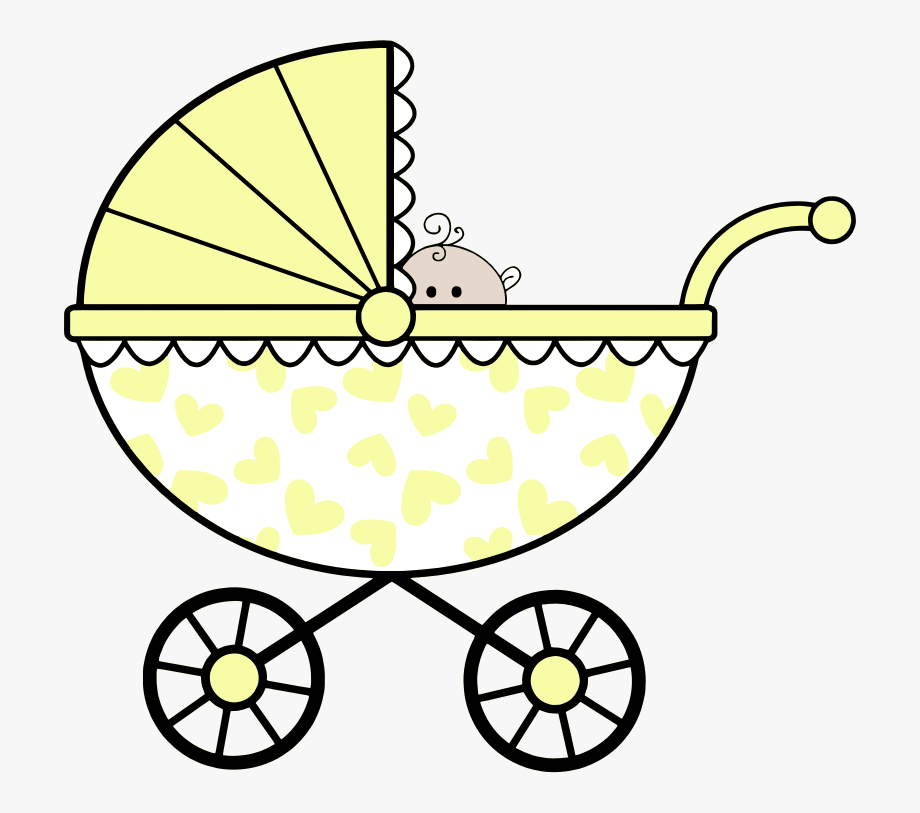 Baby buggy clipart graphic free Clip Art Baby Carriage Drawing - Baby Shower Colouring Pages ... graphic free