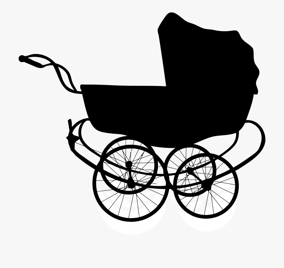 Baby buggy clipart jpg free download Clipart Vintage Baby Carriage Silhouette Antique - Baby Carriage ... jpg free download