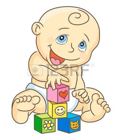 block stock vector. Baby building blocks clipart