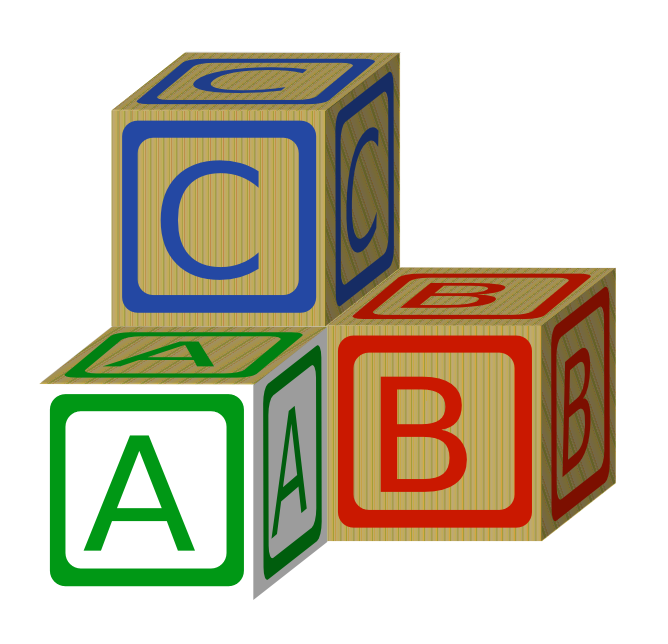 Baby building blocks clipart. Abc free download clip