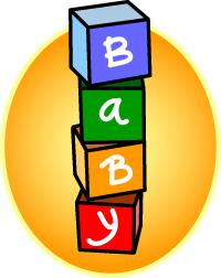 Baby building blocks clipart. Kid cliparthut free