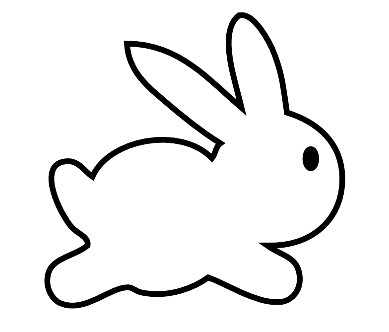 Simple easter bunny clipart picture freeuse stock Baby Bunny Clipart | Free download best Baby Bunny Clipart on ... picture freeuse stock