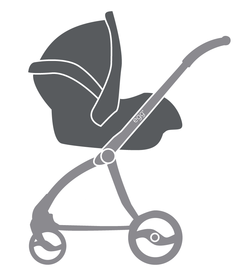 Clipart car seat vector freeuse library The new egg® Stroller from BabyStyle vector freeuse library