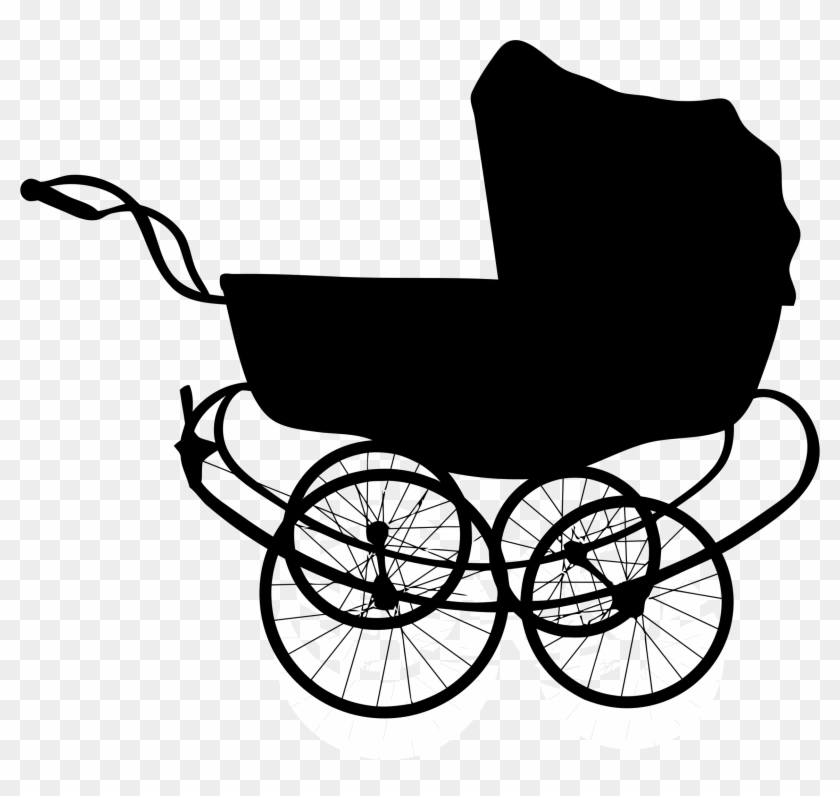 Baby carriage clipart black and white png stock Pumpkin Carriage Clipart Black And White - Baby Carriage Silhouette ... png stock