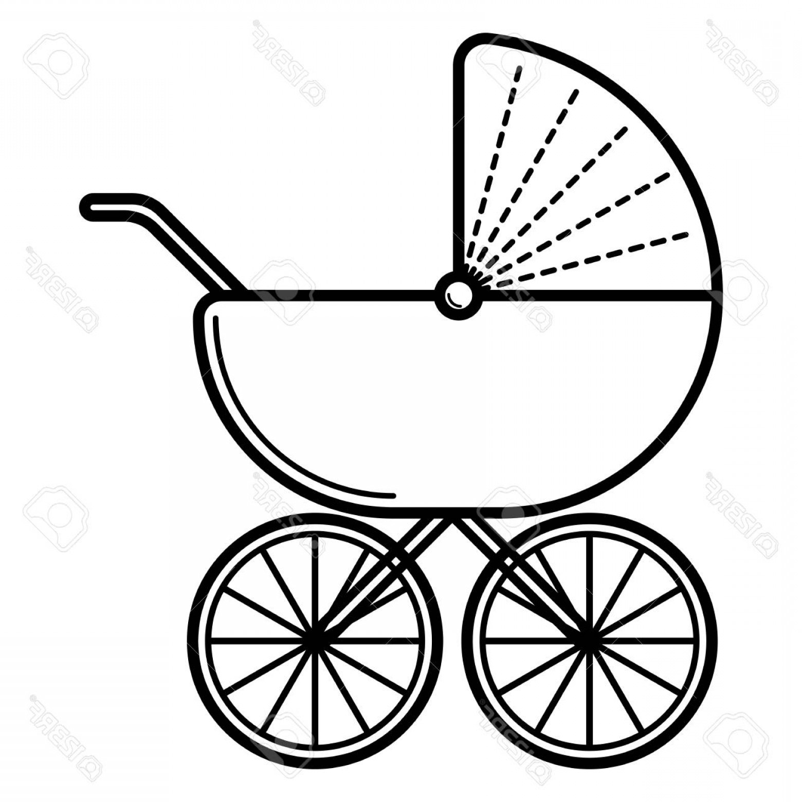 Baby carriage clipart black and white clip royalty free Baby Carriage Drawing | Free download best Baby Carriage Drawing on ... clip royalty free