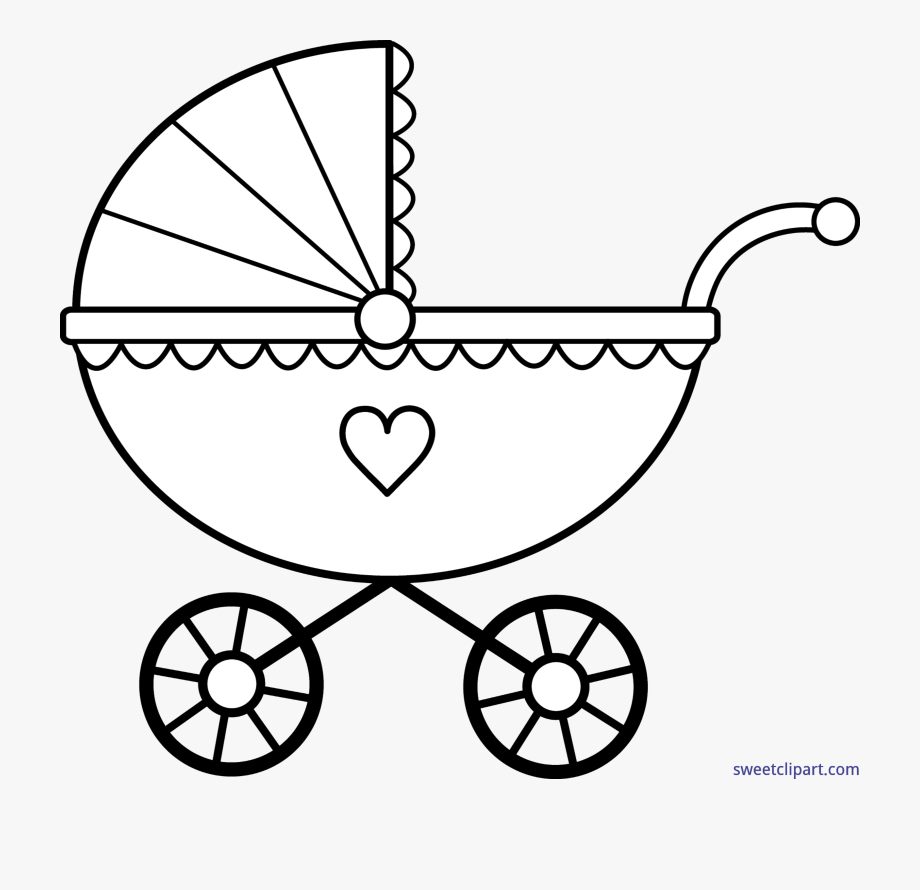 Baby carriage clipart black and white clip art library download Baby Lineart Clip Art Sweet - Baby Carriage Clipart Black And White ... clip art library download