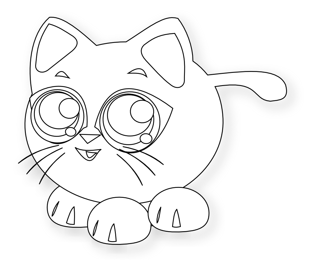 Baby cat clipart picture black and white library clipartist.net » Clip Art » baby cat black white line animal SVG picture black and white library