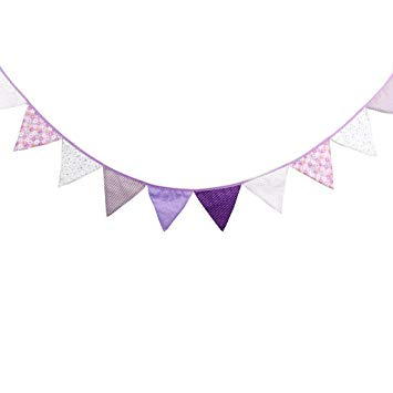 Baby celebration banner clipart png library library Multi Colored Fabric Bunting For Party Birthday Wedding Anniversary  Celebration Baby Shower(Purple) png library library