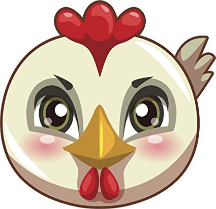 Baby chick face clipart image royalty free library Amazon.com: Cute Baby Bird Chick Face Cartoon Emoji Vinyl Decal ... image royalty free library