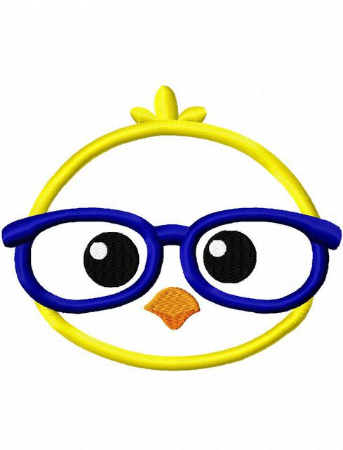 Baby chick face clipart clip art transparent library Chick face boy with glasses appliqué embroidery design - Easter appliqué  design - chick appliqué design - farm appliqué design - chicken appliqué ... clip art transparent library