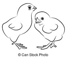 Baby chicks clipart black and white free banner freeuse Little chicks Illustrations and Clip Art. 5,676 Little chicks ... banner freeuse