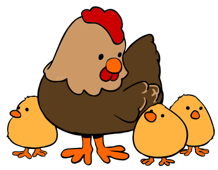 Baby chicks following mom clipart image free library Cute chicken clipart clipart 2 | Other\'s Art | Hens, chicks, Chicken ... image free library