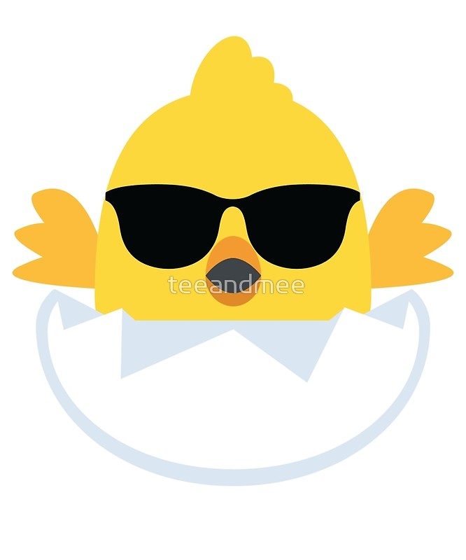 Newborn Baby Chick Emoji Cool Sunglasses Look | Art Print clip free download