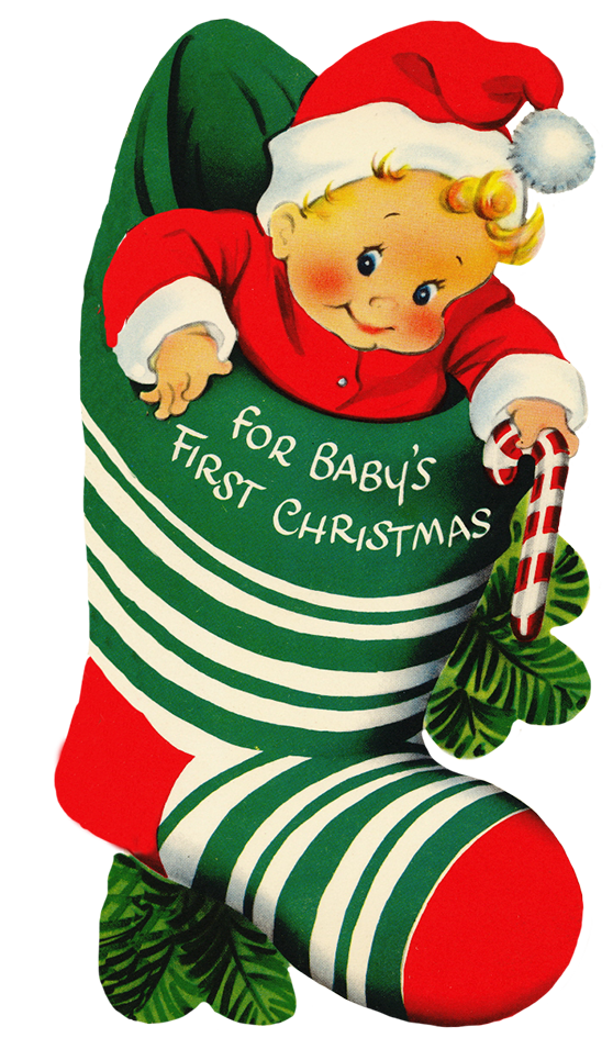 Baby christmas clipart clipart transparent download Charming Vintage Christmas Clip Art clipart transparent download