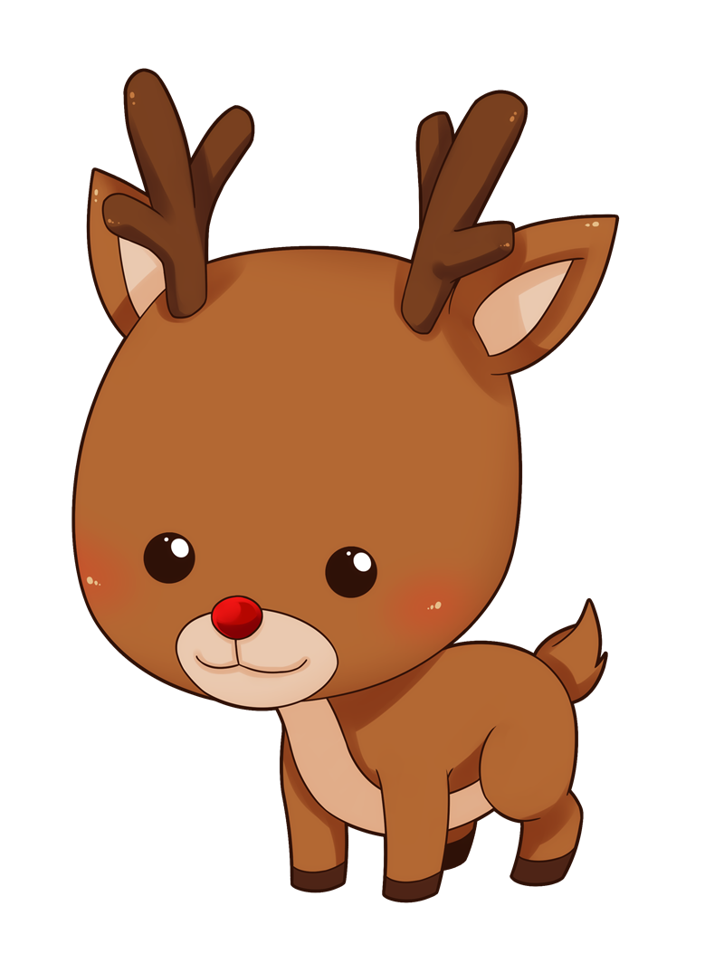 Clipart reindeer christmas transparent library This cute and adorable baby reindeer clip art is great for use on ... transparent library