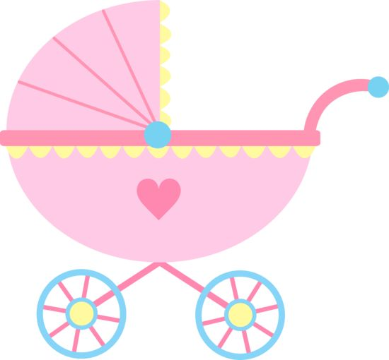 Baby clipart baby shower girl. Cute pink carriage free