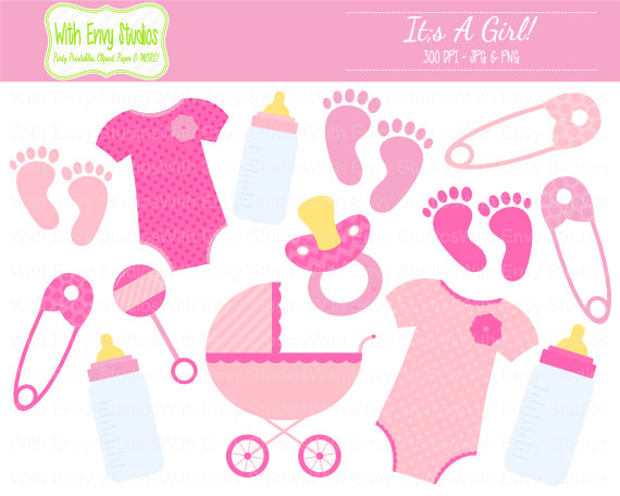 Baby clipart baby shower girl. Free clipartfest