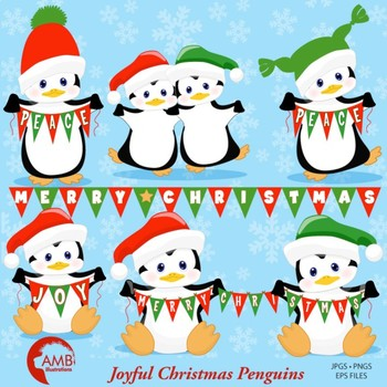 Baby clipart banner vector transparent stock Christmas Clipart, Baby Penguin Clipart, Banner Clipart, AMB-1128 vector transparent stock