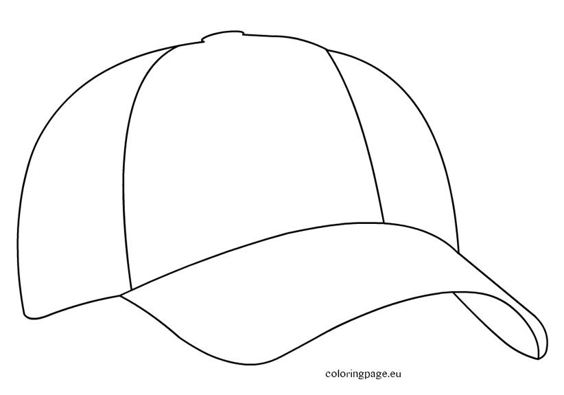 Cap coloring pages clipart banner royalty free baseball-cap | Digi Stamps | Cap drawing, Baseball quilt, Sports ... banner royalty free