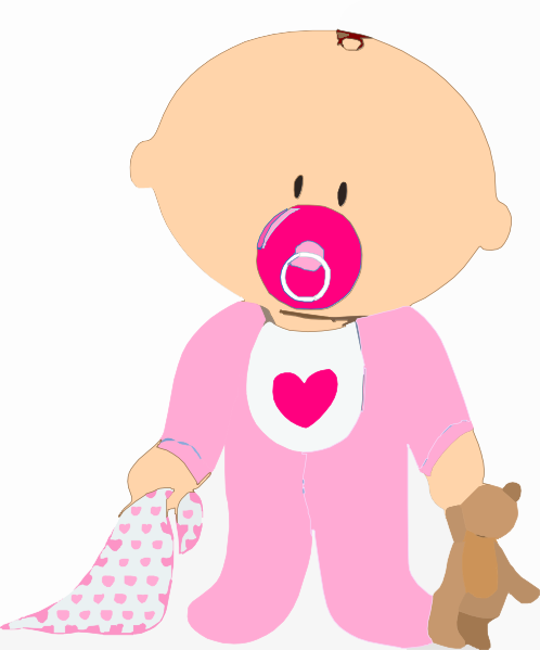 Pink Black Baby Girl Clipart - Clipart Kid banner freeuse library