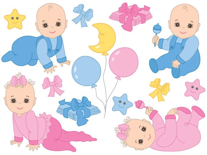 Baby clipart free vector free download 70% OFF SALE Baby Clipart - Digital Vector Baby Girl, Baby Boy ... free download