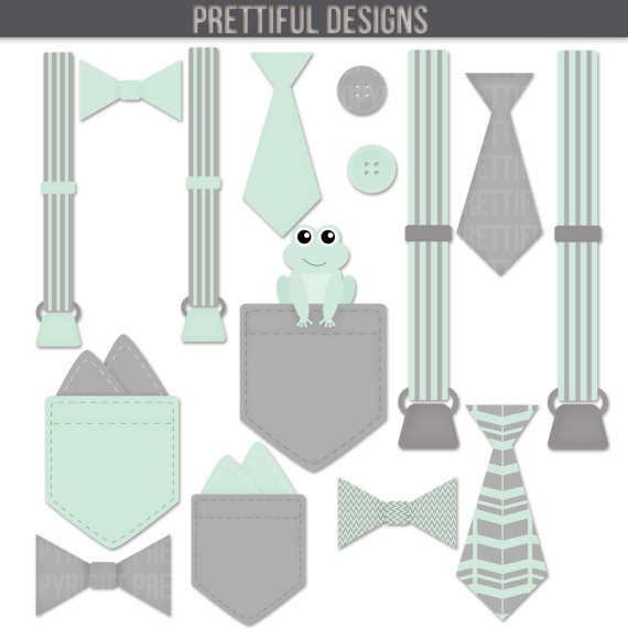 Suspenders and bow tie clipart graphic free Boy Onesie Accessories Clip Art Pocket Handkerchief Suspender Tie ... graphic free