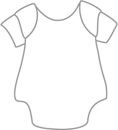 Baby clothes clipart black and white picture royalty free Pin by Erika Richaud on Baby shower ideas | Baby onesie template ... picture royalty free
