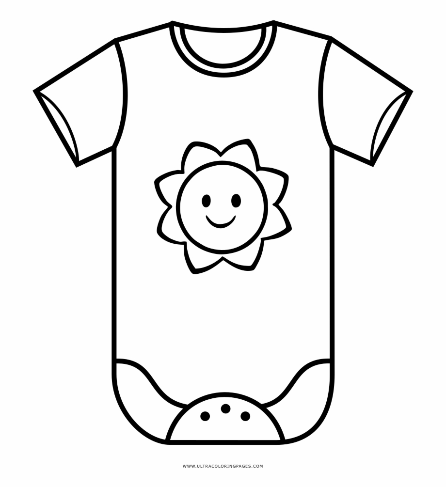 Baby clothes clipart black and white image transparent Baby Clothes Coloring Page Baby Dresses To Draw - Clip Art Library image transparent