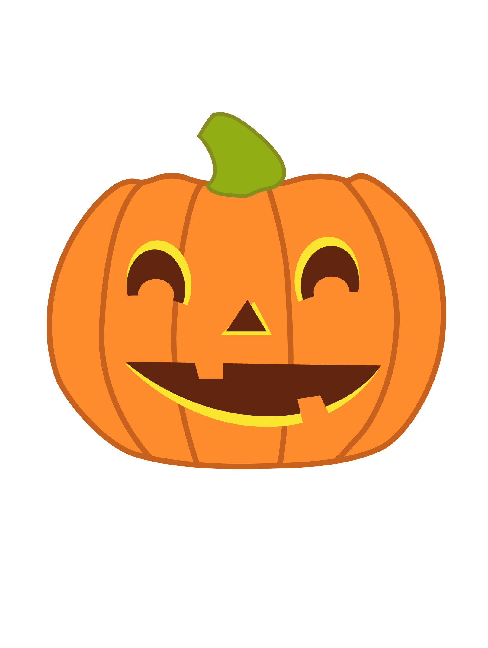 Pumpkin with cut for face clipart clip library cute halloween pumpkin clipart - Google Search | Library-Clipart ... clip library