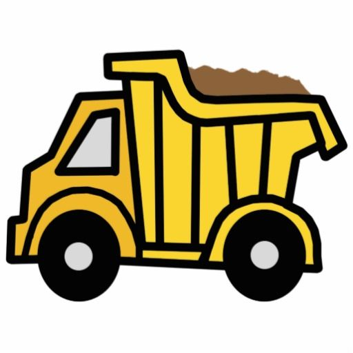 Construction truck clipart free image download Cartoon Clip Art with a Construction Dump Truck Cutout | Zazzle.com ... image download