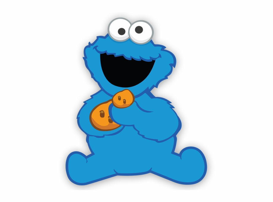 Baby cookie monster clipart freeuse Wall Sticker For Kid The Baby Cookie Monster - Baby Cookie Monster ... freeuse