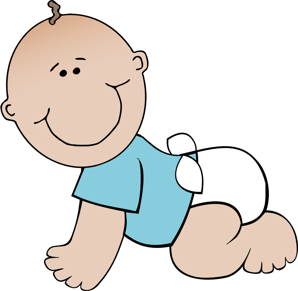 Baby pictures clipart boy graphic black and white Free Crawling Baby Clipart, Download Free Clip Art, Free Clip Art on ... graphic black and white