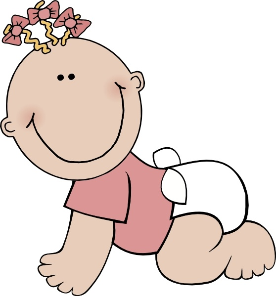 Baby crawling clipart vector free library Baby Girl Crawling clip art Free vector in Open office drawing svg ... vector free library