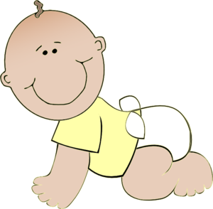 Baby crawling clipart clipart free Neutral Baby Crawling Clip Art at Clker.com - vector clip art online ... clipart free