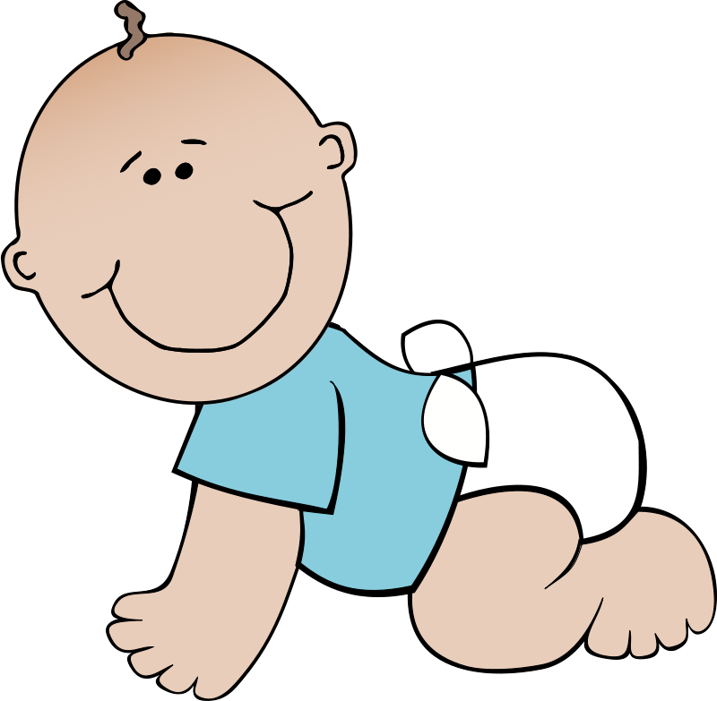 Free clipart new baby boy clipart transparent Free Clipart: Baby boy crawling | papapishu clipart transparent
