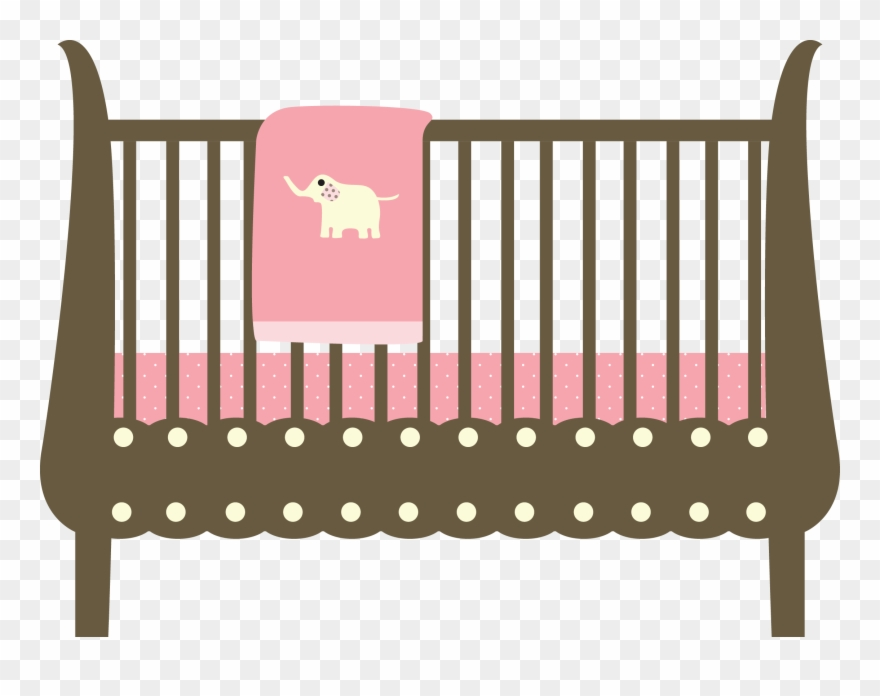 Baby crib clipart png vector black and white library Crib Clipart Cot - Baby Bed Clipart Png Transparent Png (#3217872 ... vector black and white library