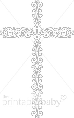 Baby cross clipart gray svg free download Grey Cross Clip Art | Christian Baby Clipart svg free download