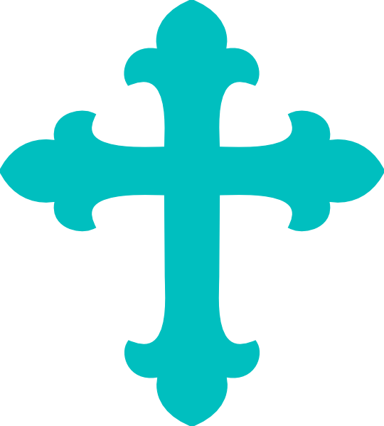 Turquoise cross clipart graphic black and white download Light Teal Cross Clip Art at Clker.com - vector clip art online ... graphic black and white download