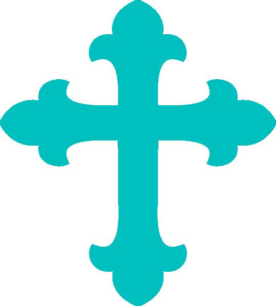 Light Teal Cross Clip Art at Clker.com - vector clip art online ... svg stock