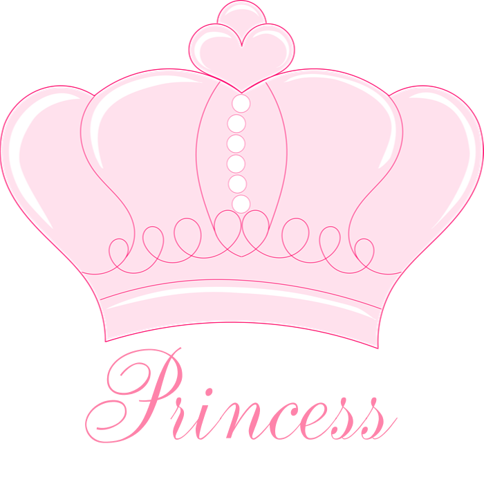 Crown princess clipart png. Pink shower curtain by
