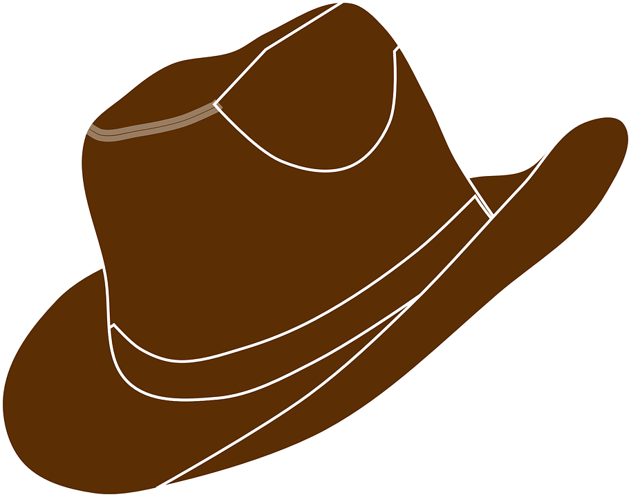 Cowboy hat crown clipart picture black and white stock Animated Cowboy Hat (49+) picture black and white stock