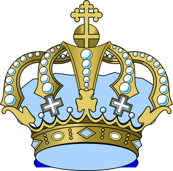 Blue prince crown clipart graphic library library Baby Blue Crown Clip Art at Clker.com - vector clip art online ... graphic library library