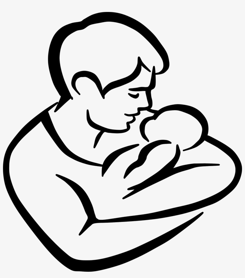 Baby daddy clipart images clip art black and white library Children Drawing Clipart At Getdrawings - Daddy And Baby Drawing PNG ... clip art black and white library