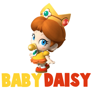 Baby daisy mario clipart graphic black and white How to Draw Baby Princess Daisy from Wii Mario Kart - How to Draw ... graphic black and white
